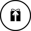 christmas or birthday gift symbol