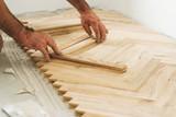 Parquet and carpenter concept poster