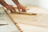 Fototapety parquet and carpenter concept