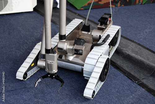 Military robot in the camps