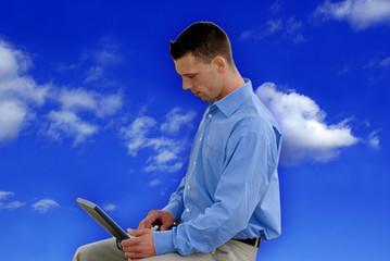 Himmel - Wolken - Geschäftsmann