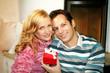 happy couple on christmas day