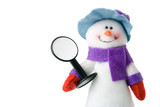 snowman that keep blank sign poster