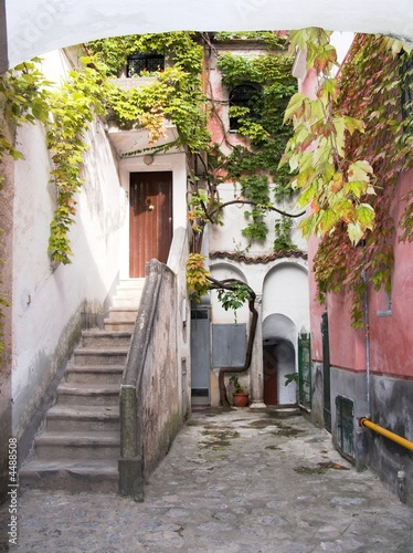 Ravello alley stairs climber  autumnal