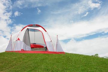 tienda camping en monta–a