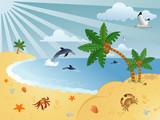 Wonderful summer background poster