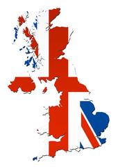 Carte du Royaume Unis (Drapeau)