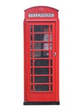 A Traditional Red British Telephone Box.