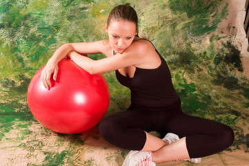 Exercise ball rollout