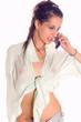 Leinwanddruck Bild - Wet shirt and call