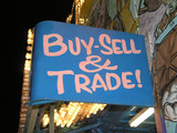 Buy Sell Trade sign poster