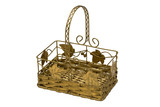 Metal basket isolated