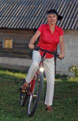 happy female cyclist