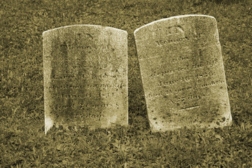Two Old Gravestone