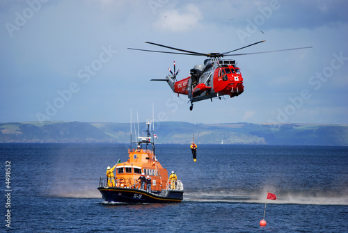 Tuinposter Helicopter Air sea rescue - Gorran Haven