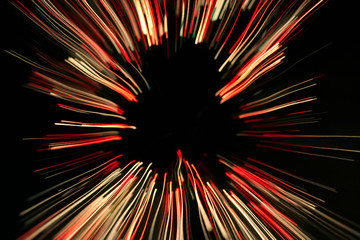 Light fibre zoom-in