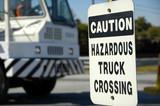 Hazardous Truck Crossing poster