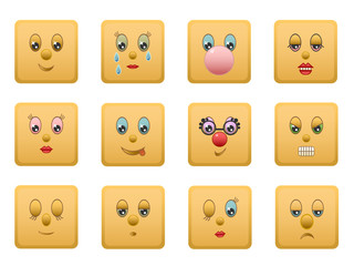 smiley squares set 1