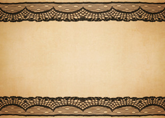 old vintage paper with lace design