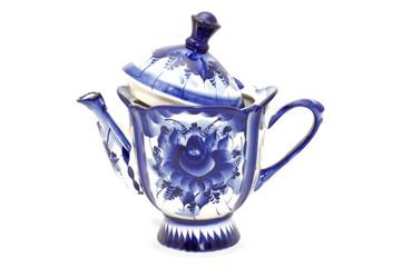 Blue tea-port