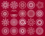 twenty snowflakes,vector illustration poster