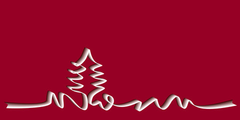 ruban Noël rouge