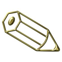 3D Golden Pencil