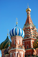 St.Basil cathedral in Moscow, Russia.