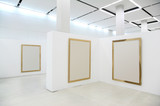 Fototapety exebitions hall with blanc frames