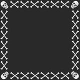 skull and crossbones frame/border poster