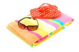 Colorful Beach Items poster