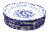 Blue plates poster