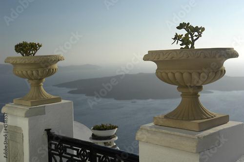 Plakat Aussicht von der Calderakante, Santorin