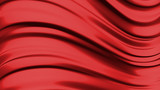 Abstract liquid red background  3D rendering poster