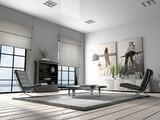 Home interior 3D rendering - 4518780