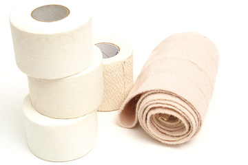 sports tape with bandage