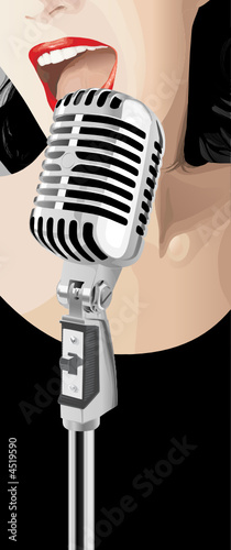 Jazz Singer (vector)