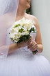 Bridal wedding bouquet of flowers