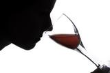 Fototapeta czerwony - szkło - Wino