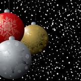 christmas deco flurry poster
