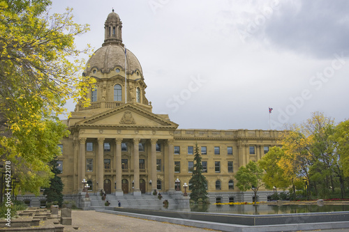 Alberta Provincial Legislature Building in fall