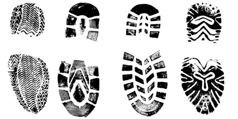 4 Shoeprints  - very detailed