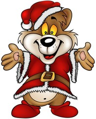 Christmas Happy Brown Bear