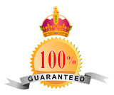 Seal 100% guaranteed with crown poster