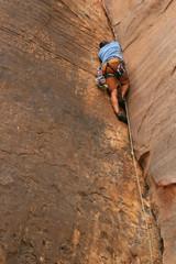 Rock Climbing a Crack