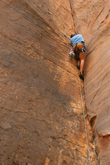 Dare Devil Rock Climber