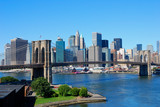 Fototapety New York City Skyline and Brooklyn Bridge