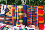 Hanging Mayan Blankets poster