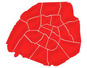 Carte Arrondissements Paris