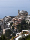 Positano panorama of village and the church Nuova